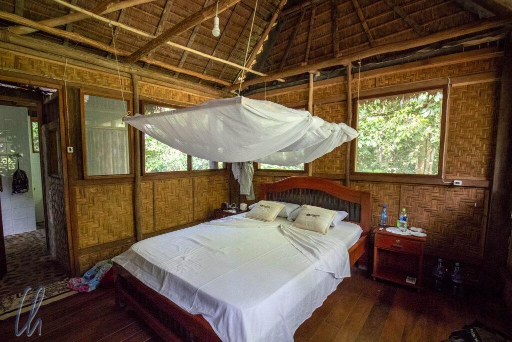 Mitten im bolivianischen Dschungel schützte uns ein wunderbares Mosquitonetz.
