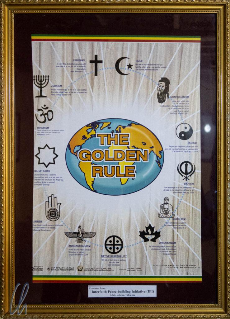 Die Goldene Regel aller Religionen: Behandele alle Menschen so, wie Du selbst behandelt werden möchtest.