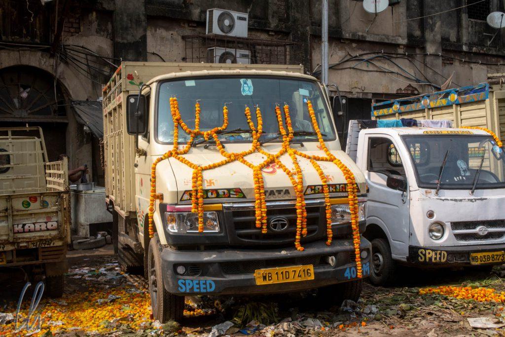Tata Motors ist der größte Automobilhersteller in Indien und die Fahrzeuge sind damit auf den Straßen sehr präsent.