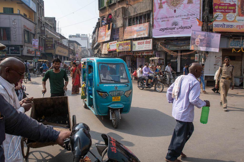 Mittendrin im indischen Verkehr