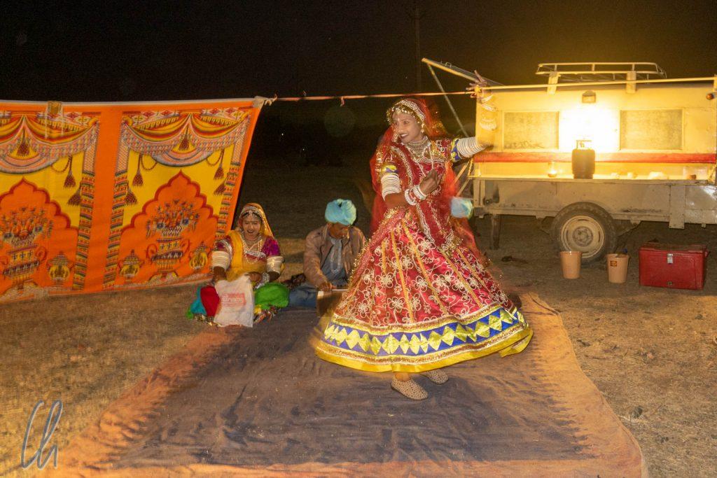 Eine traditionelle indische Tanzdarbietung