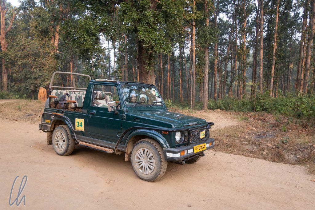 Unser offener Safari-Jeep