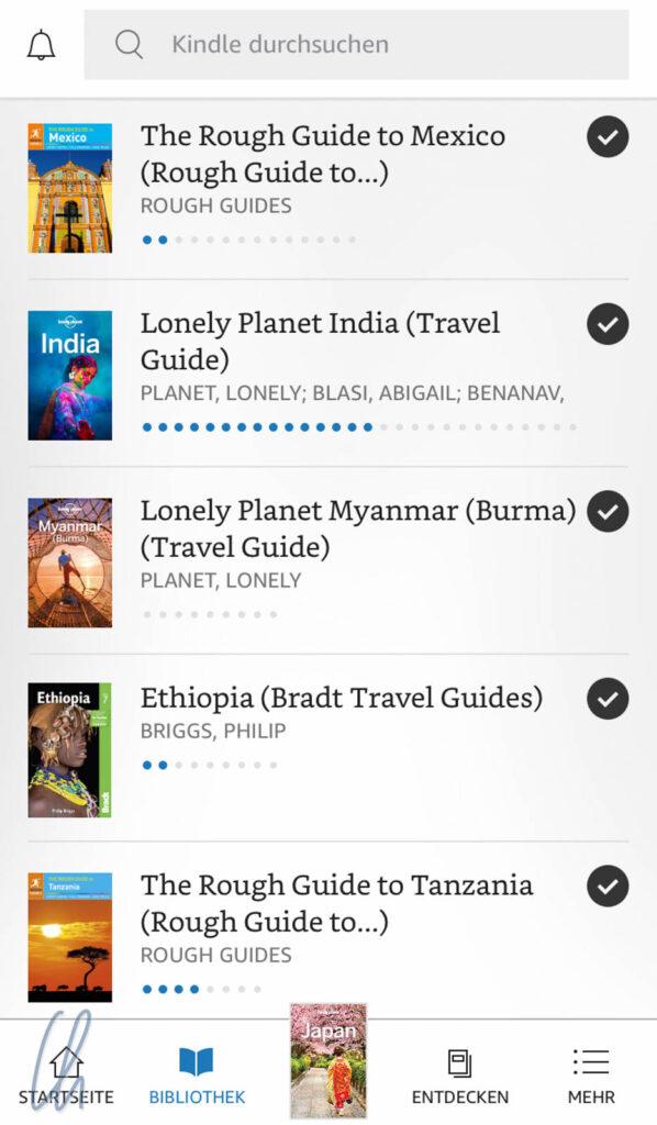 Geballtes Reisewissen in der Kindle-App