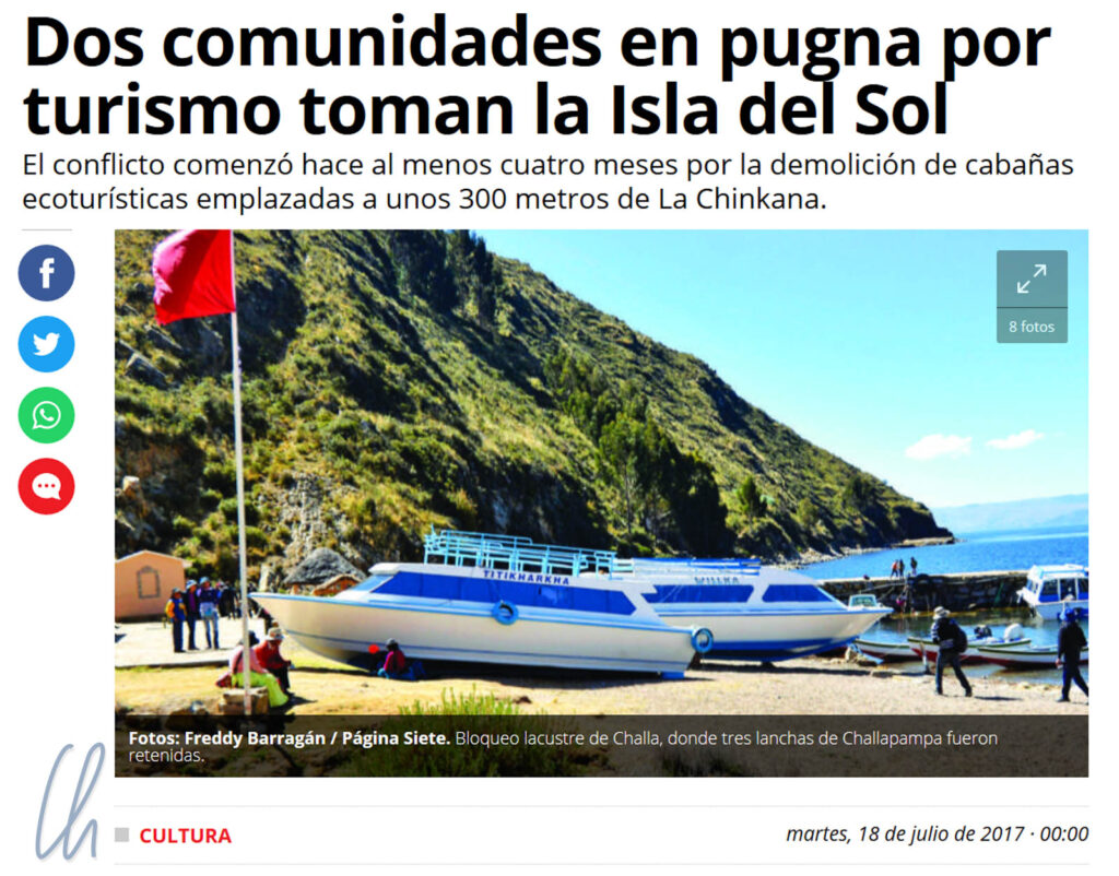 In Bolivien schufen die Menschen Fakten, hier der Konflikt um die Isla del Sol.